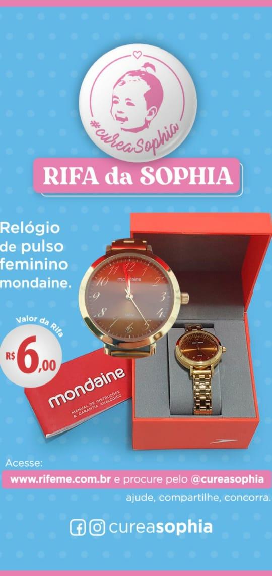 Foto  - @cureasophia - Relógio feminino dourado Mondaine