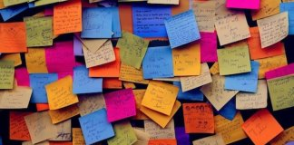 dove si buttano post-it