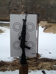 Results after firing a 5 circle drill.