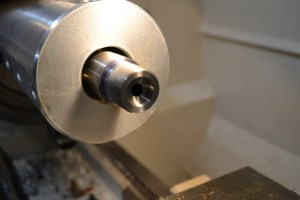 Here is the finished bolt nose recess cut.