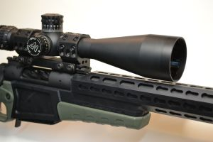 A Badger rail, Nightforce F1 3.5-15 scope and Spuhr mount complete the package.