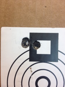 "175 grain SMK at 100 yards.  .376""."