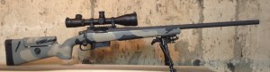 Side view of the 260 Remington built on a Blackheart International action.