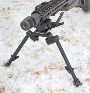 Front view of Sierra 7 bipod.