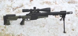 """Right side view, 16.75"""" 308 barrel installed."""