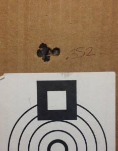 "I would say this rifle shoots well even when fire forming. This was my best 5-shot group of the day, .352"". 69 SMK on top of Reloader 15 in a Lapua case. 100 yards, 20F with 25MPH no value gusts."