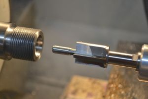 "I use a .705"" piloted counter bore to cut the bolt nose recess."