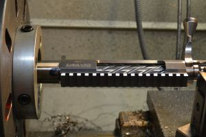 I test fit the bolt in the action to make sure the bolt fits inside the counterbore.