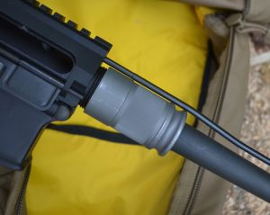 Assembly is quick.  Lock the colt to the rear, insert the barrel extension into the upper receiver, and tighten the barrel nut by hand.