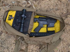 The lower, upper and optic fit neatly in the pack.