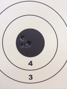 "Best five shot, 200 yard group.  .502""."