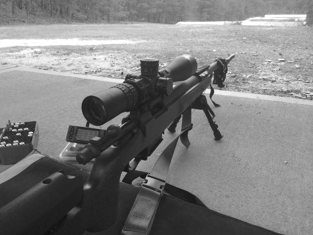 308 rifle black and white