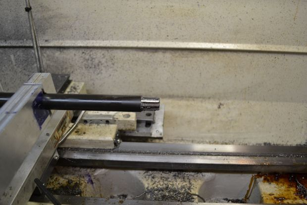 back bore reamer at the muzzle