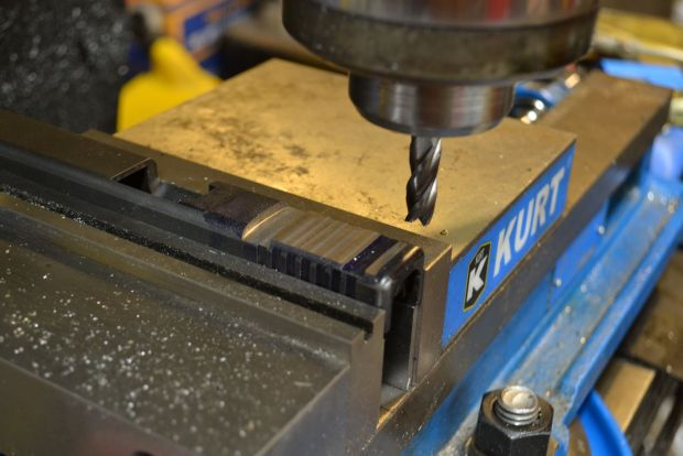 milling rear of slide