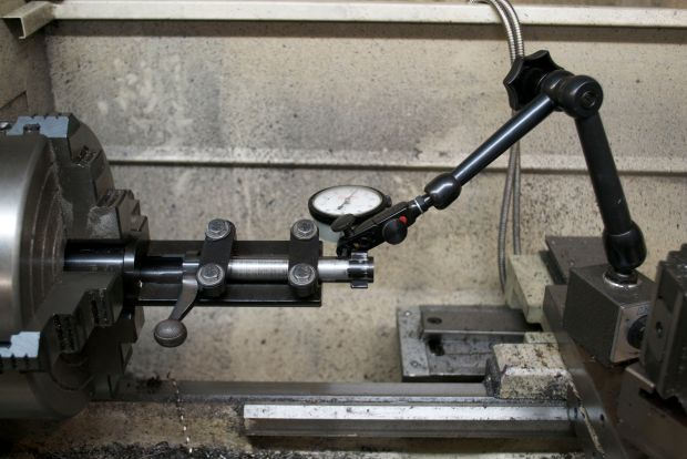 dialing in bolt on lathe