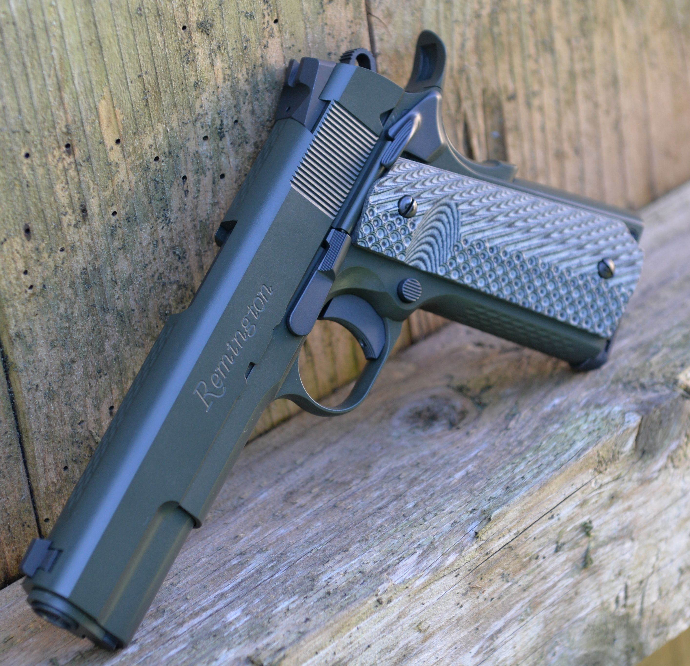 custom 1911 left side oblique
