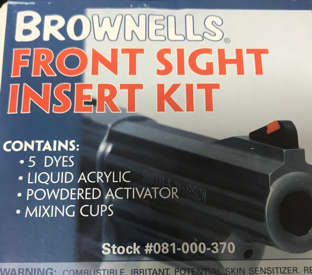 Smith and Wesson Revolver front sight insert replacement