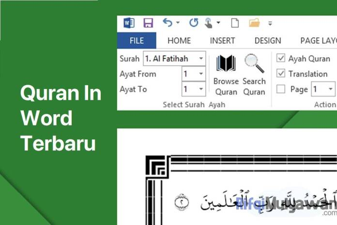 Gambar Cover Download Quran In Word Versi Terbaru Microsoft Office Windows 2020 2019 2016 2013 2010 2007 Plugin Full Gratis
