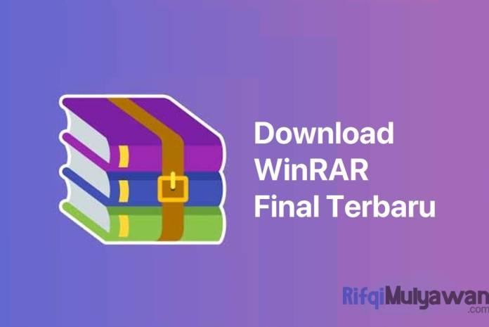 Gambar Cover Software Download WinRAR Final Versi Terbaru Offline Installer Full Gratis Untuk Windows Linux MacOS Dan Android
