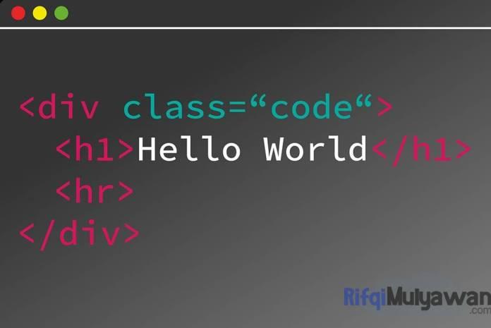 Ilustrasi Gambar Contoh Penulisan Halaman HTML Structural Element Elemen Struktural HTML