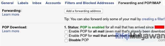 Menemukan Tanggal Akun Email Google Anda Dibuat Pertama Kali Dengan Cek POP IMAP