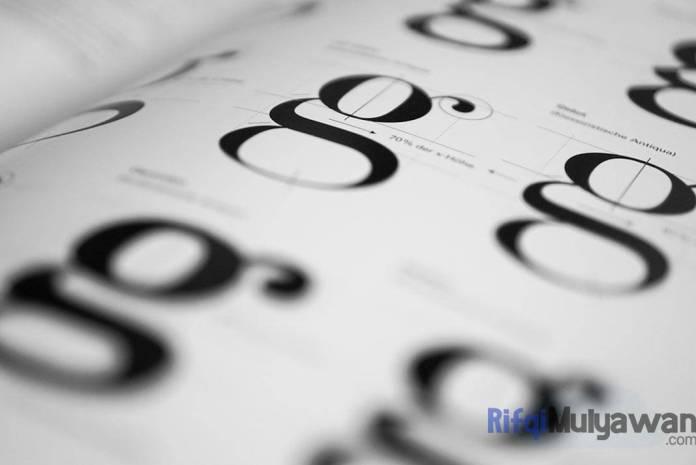 Ilustrasi Gambar Pengertian Typography