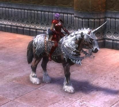 RIFT Swift Silver Armored War Horse Bridle