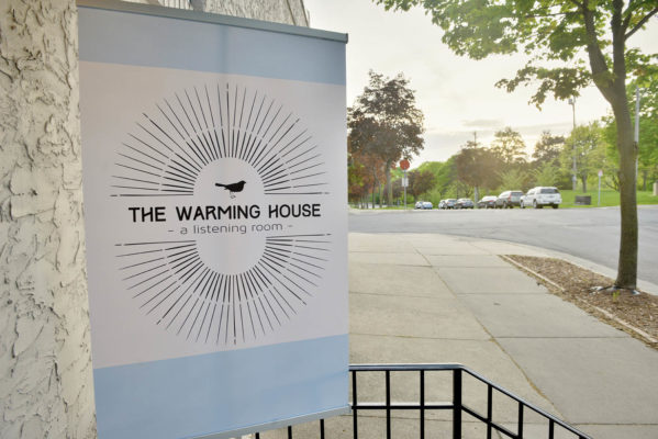Opening night at the Warming House in Minneapolis