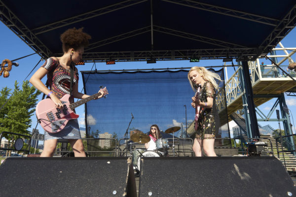 """Bruise Violet at the 2017 """"Rock The Garden"""" festival in Minneapolis"""