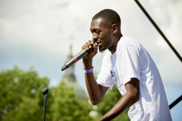 """Dwynell Roland  at the 2017 """"Rock The Garden"""" festival in Minneapolis"""