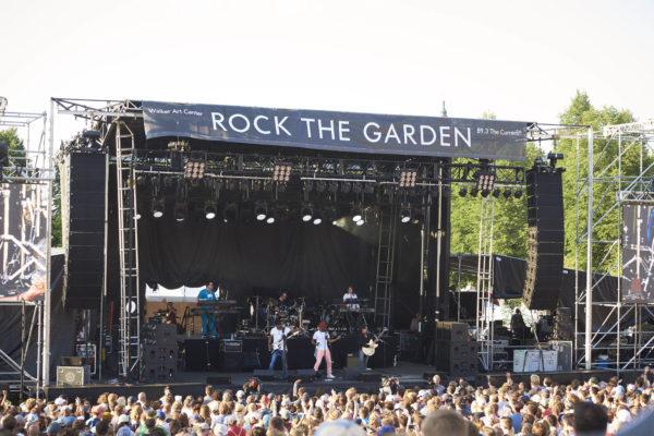 "The Revolution at the 2017 ""Rock The Garden"" festival in Minneapolis"
