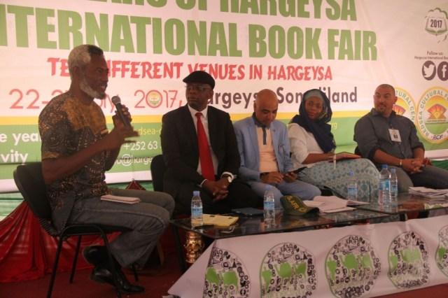 Chuma Nwokolo speaking on a panel