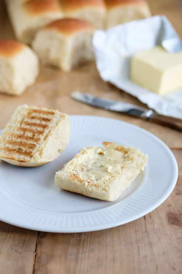 Varme hveder med smør