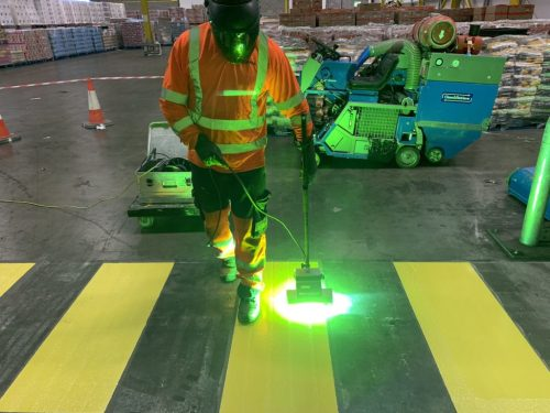 Ultra Line Marking in warehouse