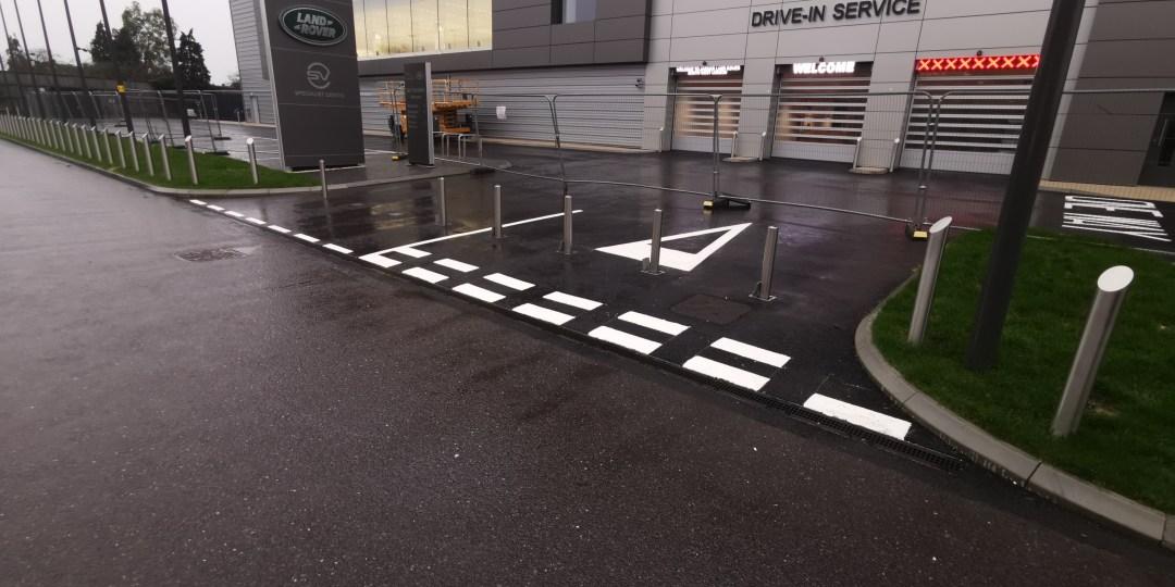 Forecourt Line Markings for Jaguar Land Rover