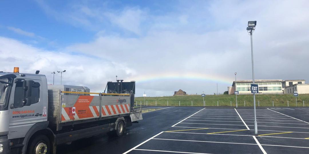 Car Park Line Marking – From ferry to Finish