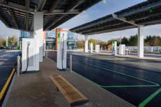 Electric Vehicle Charging Forecourt