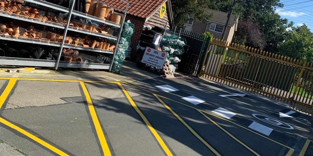 Dynamic Line Marking for Builders Merchant Branch in Norfolk