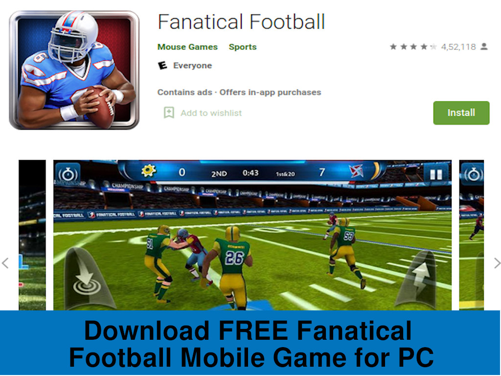 Download FREE Fanatical Football for PC, Linux, and Mac mobile game - Rightapp4u
