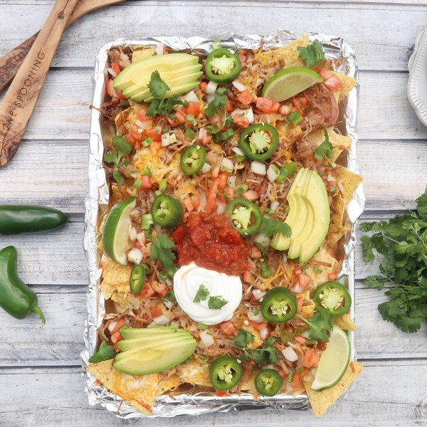 Game Day Sheet Pan Carnitas Nachos