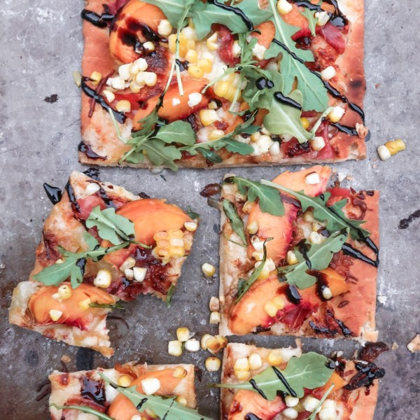 Peach and Prosciutto Flatbread