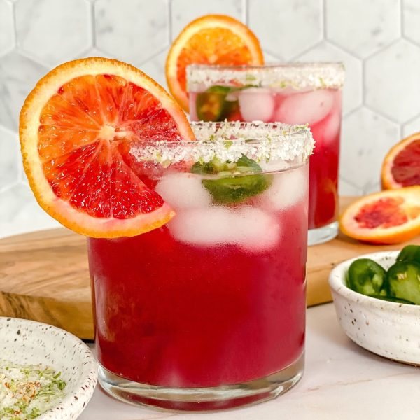The Best Homemade Spicy Blood Orange Margaritas