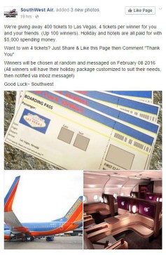 Southwest Air scam