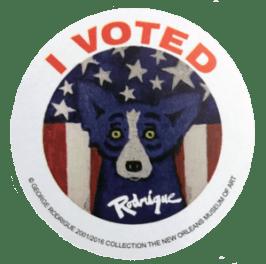 Blue Dog sticker