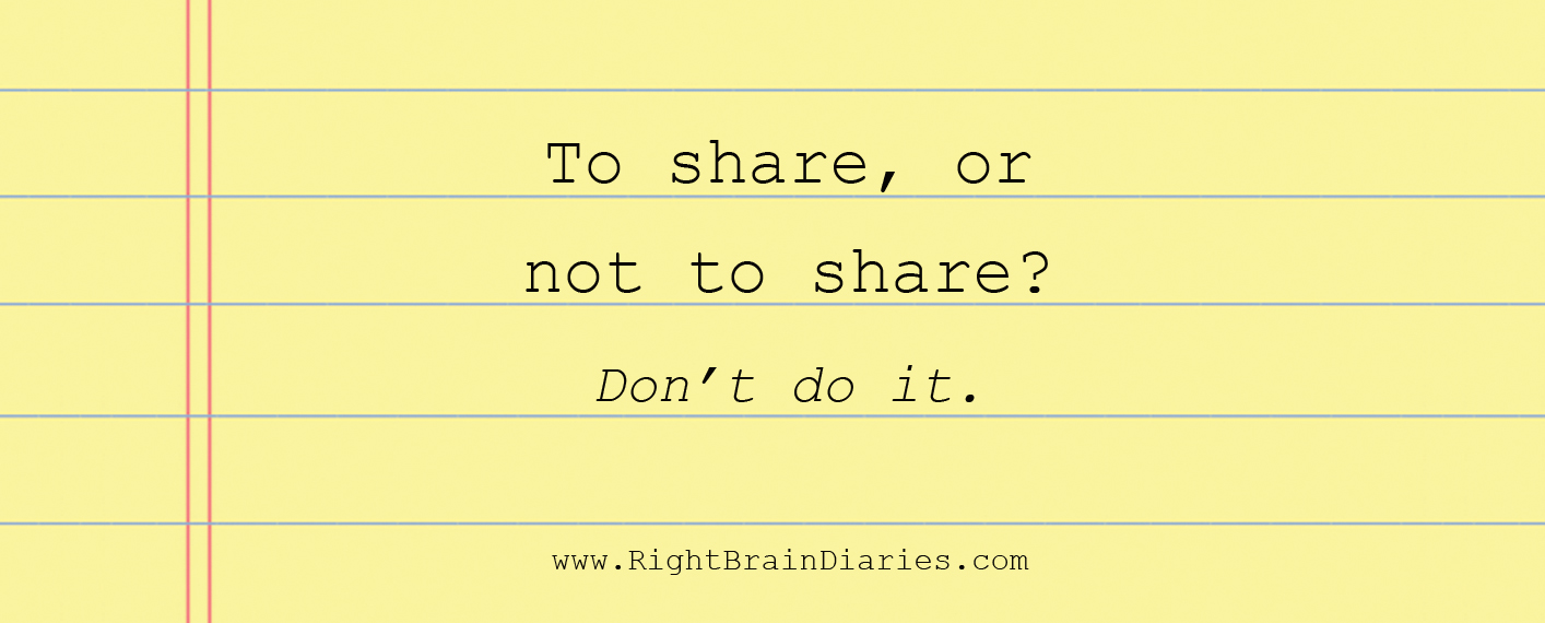 To share, or not to share?