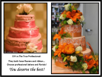 Floral cake with ribbon
