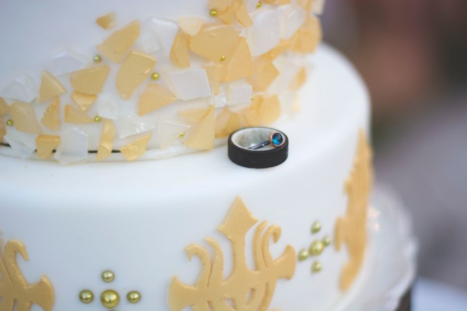 Zelda Wedding Cake with Rings