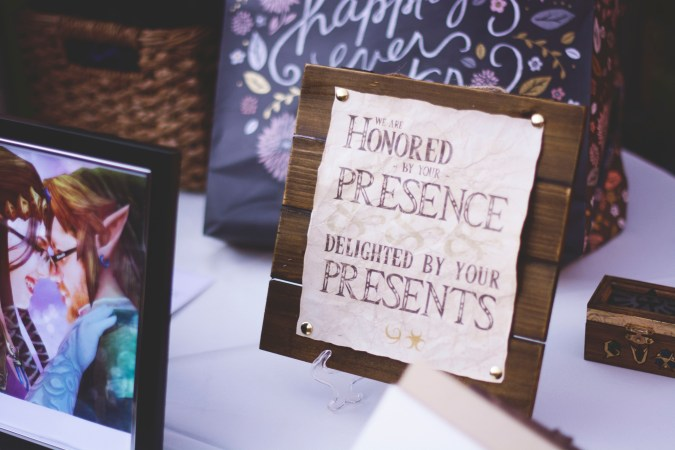 Sign for the Presents Table