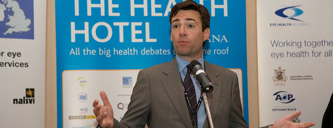 Andy Burnham, Health Hotel, Sept 2009, Labour Reception