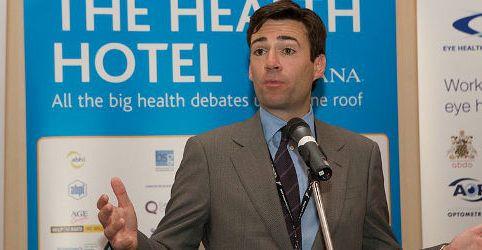 Andy Burnham, Health Hotel, Sept 2009, Labour Reception